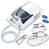Sanitas SIH 21 Inhalator mit Kompressor-Drucklufttechnologie/Behandlung von Atemwegserkrankungen wie Erkältungen, Bronchitis/Inhaliergerät für Erwachsene und Kinder/Vernebler-Inhalation