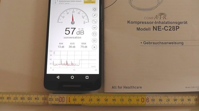 Lautstärke Omron CompAir C28P Kompressor in 100 cm Abstand