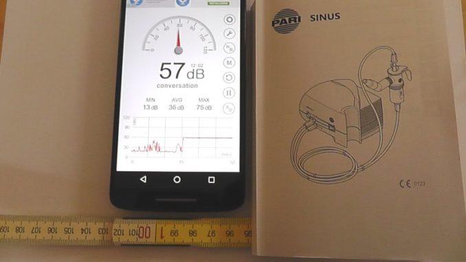 Lautstärke Pari Sinus Kompressor in 100 cm Abstand